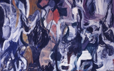 Grace Hartigan The Massacre 1952 Oil On Canvas 81 X 130 Inches Abstract Expressionism